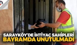 Sarayköy'de ihtiyaç sahipleri bayramda unutulmadı