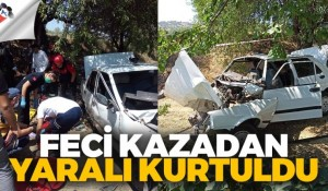 Feci kazadan yaralı kurtuldu