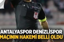 Antalyaspor Denizlispor Maçının Hakemi Belli Oldu
