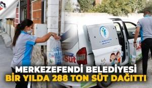 Merkezefendi Belediyesi, çocuklara bir yılda 288 ton süt dağıttı